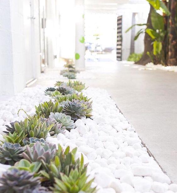 Ideas para decorar tu jard n con piedras y rocas for Jardines de piedras blancas