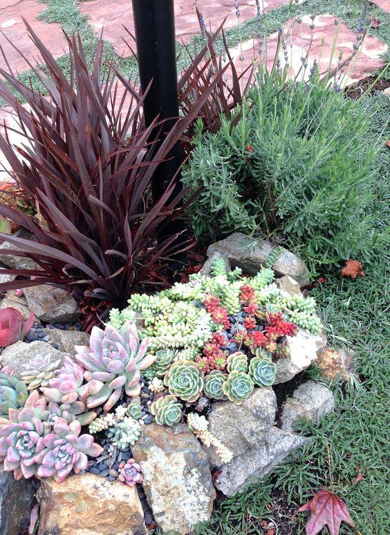 Ideas para decorar tu jard n con piedras y rocas - Decoracion de jardines con piedras y plantas ...