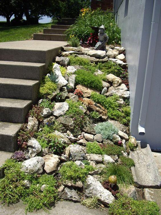 Ideas para decorar tu jard n con piedras y rocas - Plantas para rocallas ...
