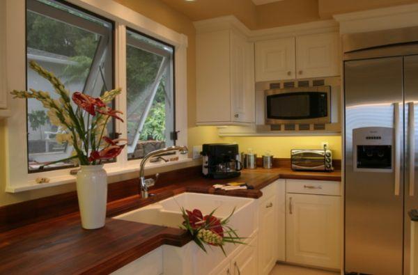 por supuesto que las cocinas modernas y tambin son un buen escenario para una encimera de madera y aqu tenemos un buen ejemplo de ello