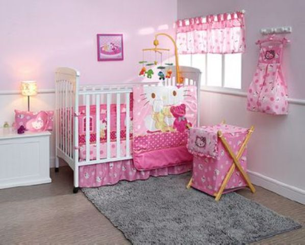 Preciosas habitaciones infantiles decoradas con hello kitty for Articulos decoracion habitacion bebe