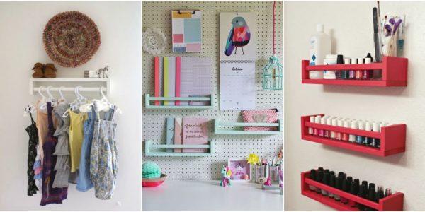 Ideas para decorar con el estante especiero bevkam de ikea