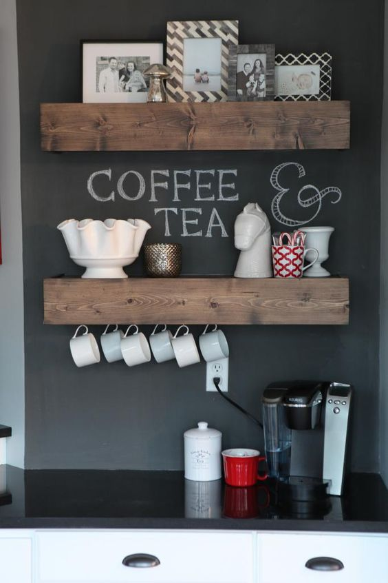 Coffee Bar With Mini Fridge Ideas