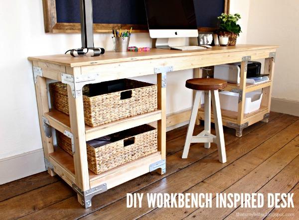 25 propuestas de escritorios diy para tu oficina en casa - Escritorios rusticos de madera ...