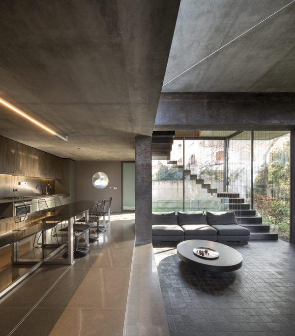 Cocinas de concepto abierto for Casa moderna tipo loft