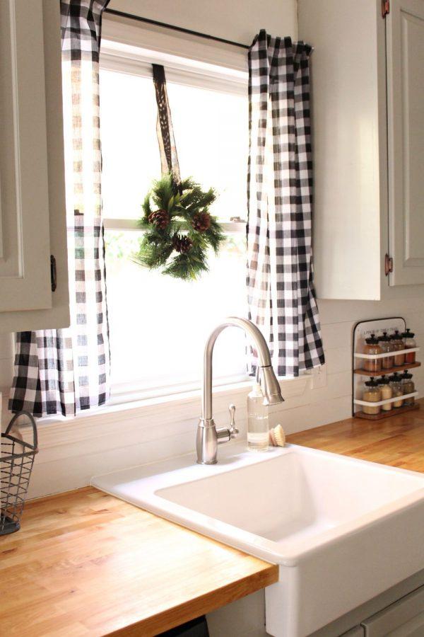 Gu a para elegir las cortinas de la cocina for Cortinas para cocina gris