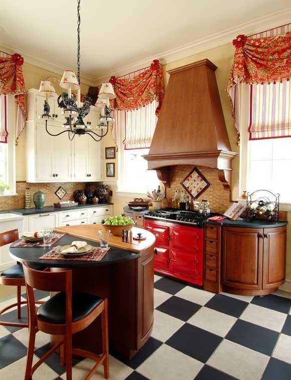 Gu a para elegir las cortinas de la cocina for Cortinas estampadas para cocina