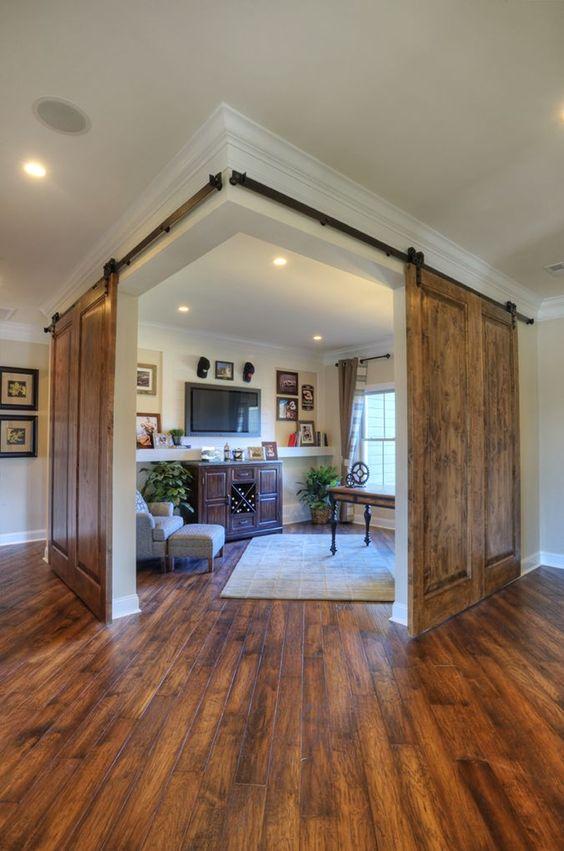 Puertas tipo granero para interior - Paneles para separar espacios ...