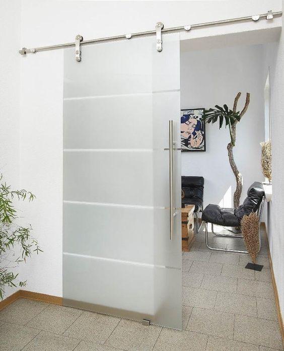 Puertas tipo granero para interior for Sistema para puertas corredizas