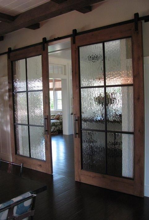 Puertas tipo granero para interior - Cristales decorativos para puertas de interior ...