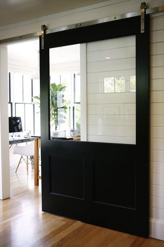 Puertas tipo granero para interior - Tipos de puertas corredizas ...