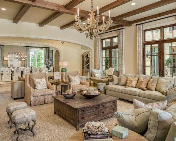 15 ideas de estilo french country para tu sala de estar for Para amueblar una sala de estar en longitud