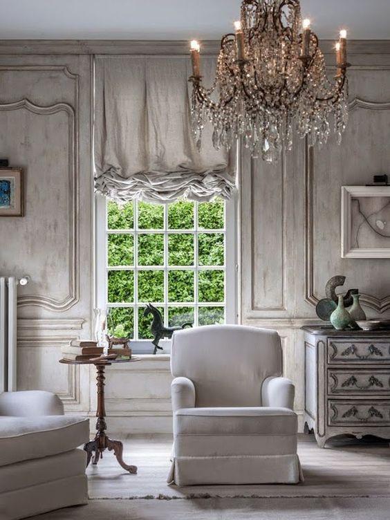 15 ideas de estilo french country para tu sala de estar - Muebles estilo country ...