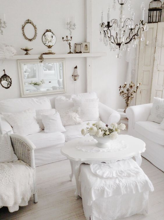 15 ideas de estilo french country para tu sala de estar - Muebles estilo country ...
