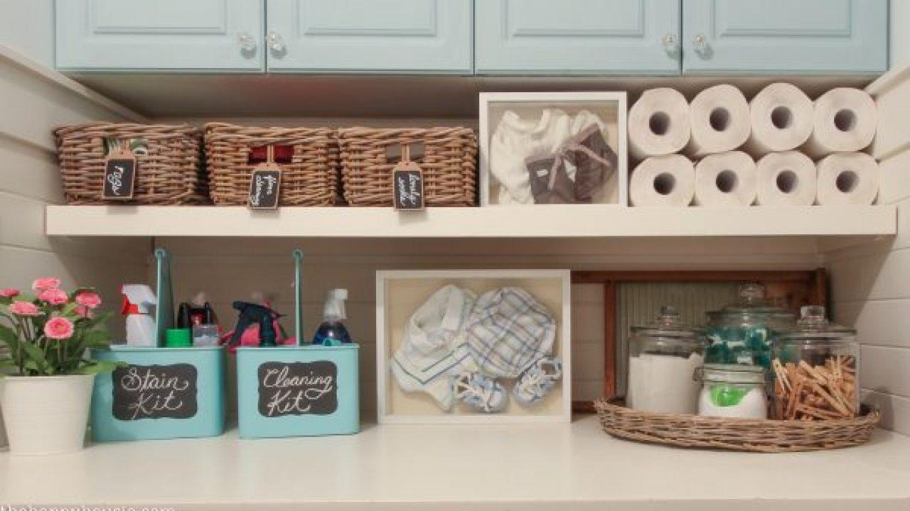 15 maneras de organizar la lavandería