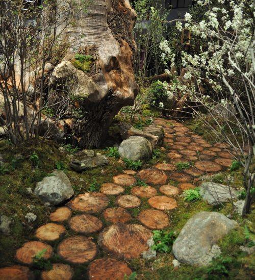 Preciosas Ideas De Caminos De Jardin Con Madera