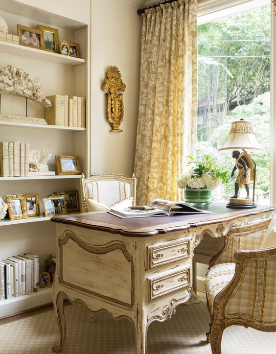15 oficinas en casa de estilo country franc s for Muebles estilo country