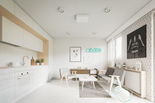 4 adorables apartamentos peque os para enamorarse for Apartamento muy pequeno