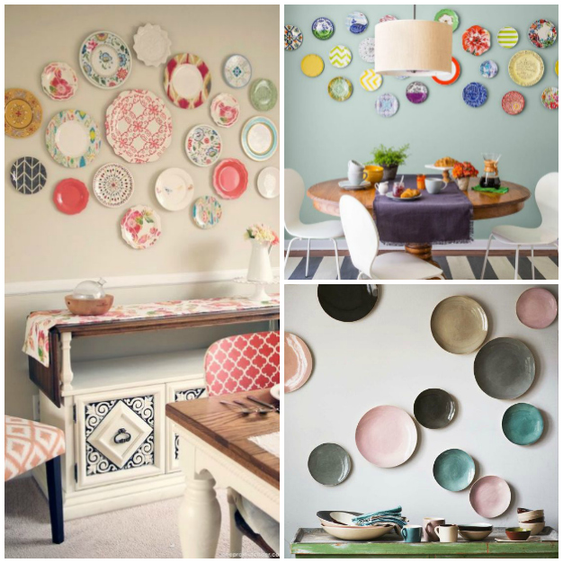 20 ideas para decorar paredes con platos - Platos decorativos pared ...