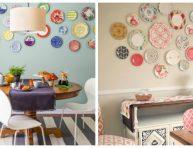 imagen 20 ideas para decorar paredes con platos