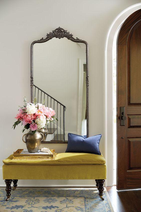 Espejos grandes para decorar el recibidor for Espejos con marco metalico