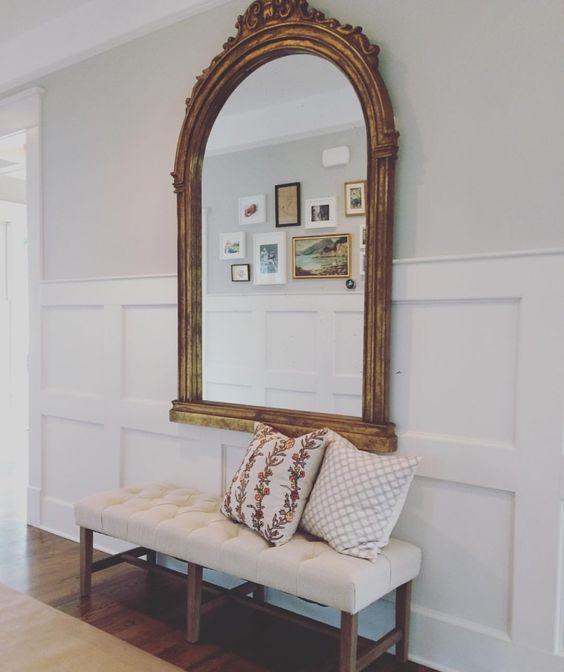 Espejos grandes para decorar el recibidor for Espejos minimalistas