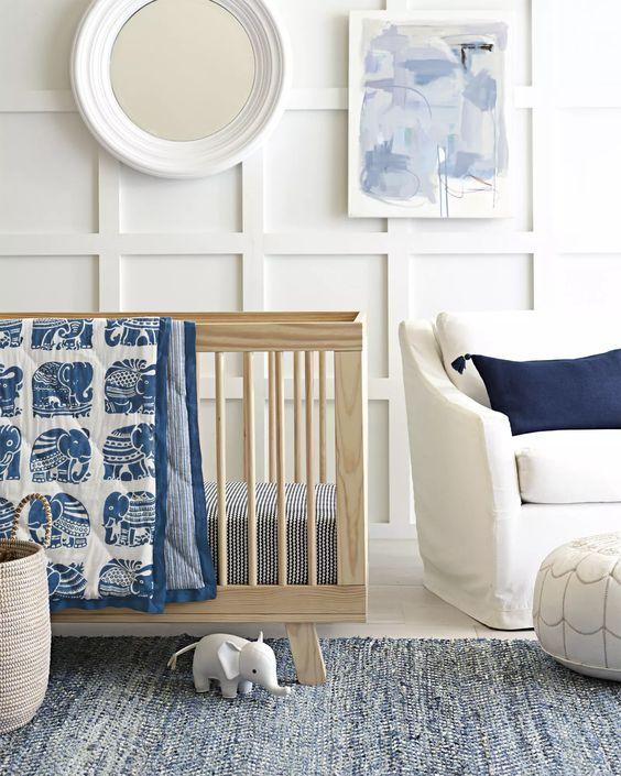 decorar las paredes de la habitacin de tu beb en estos casos es ms importante gestionar bien el color que las formas esta pequea pintura abstracta