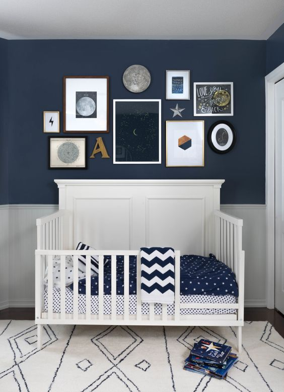 Ideas para decorar las paredes de la habitaci n del beb for Habitacion completa bebe boy