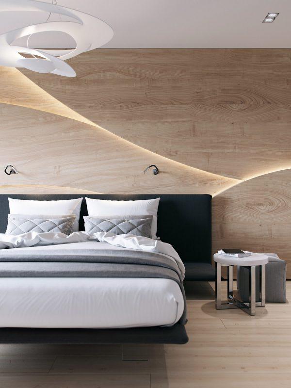 Paredes con diseños de madera para decorar habitaciones