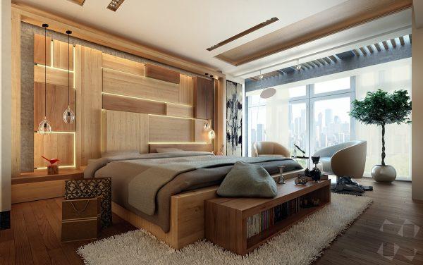 Paredes con dise os de madera para decorar habitaciones for Disenos de paredes para dormitorios