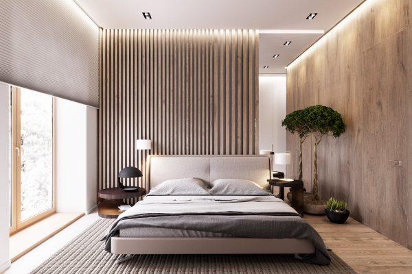 Paredes con dise os de madera para decorar habitaciones for Decoracion piso montana