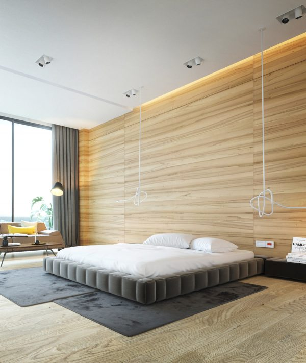 Paredes con dise os de madera para decorar habitaciones - Forrar pared de madera ...