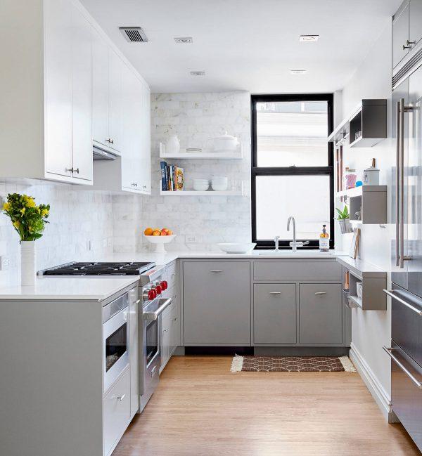 Cocinas Gris | Ten Una Elegante Cocina En Blanco Y Gris