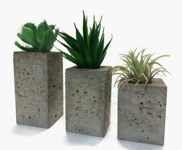 Fant sticas macetas de hormig n para decorar - Macetas minimalistas ...