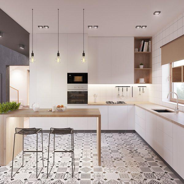 Ideas e inspiraci n para una cocina en estilo n rdico - Pintar azulejos de cocina ideas ...