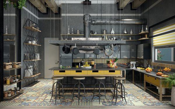 19 cocinas de estilo industrial para sorprenderse for Muebles reciclados para un estilo industrial