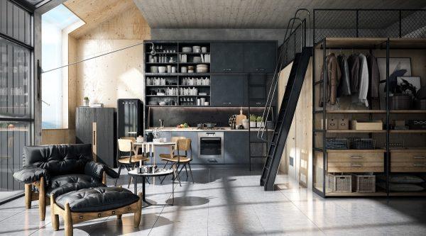 19 cocinas de estilo industrial para sorprenderse for Techos de metal para casas