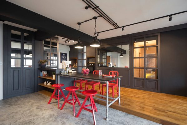 Impactantes cocinas de estilo industrial 09 gu a para - Mobiliario estilo industrial ...