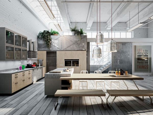19 cocinas de estilo industrial para sorprenderse for Decoracion de cocinas industriales