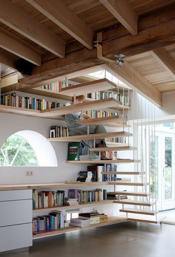 a continuacin veris una breve seleccin de escaleras convertidas en pequeas o grandes bibliotecas una buena idea que no nos importara copiar