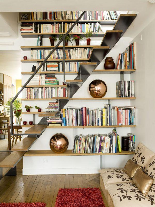 Libreras y escaleras una buena combinacin para decorar