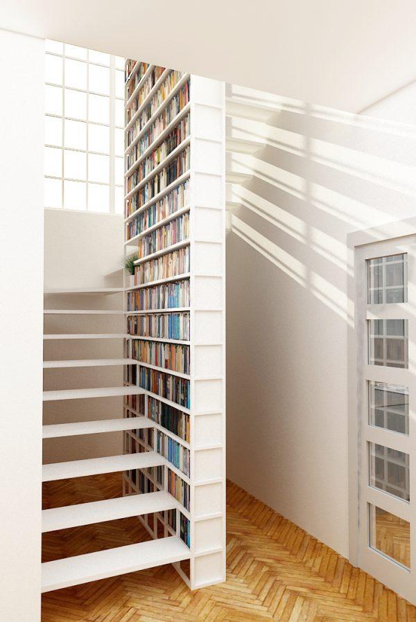 de diseo ms sencillo aunque no menos atractivo tenemos esta que soporta a la misma escalera diseo minimalista con una cantidad de