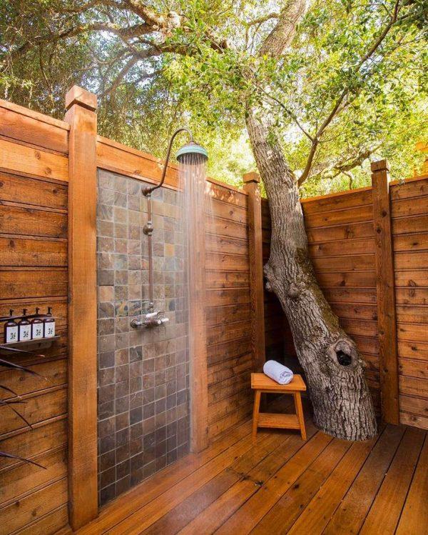 Bellísimas e inspiradoras duchas de exterior