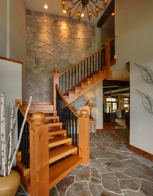 10 sencillas y elegantes escaleras de madera for Escaleras de madera sencillas