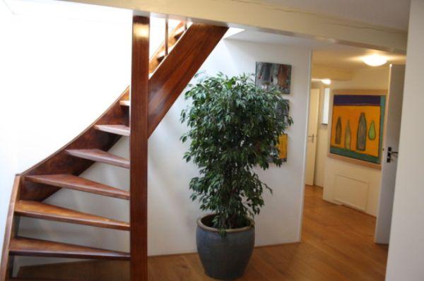 en cambio en esta escalera de inspiracin oriental slo vemos lneas rectas la combinacin de los escalones macizos con las lamas del panel