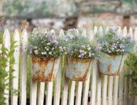 imagen 14 ideas DIY para decorar la valla del jardín