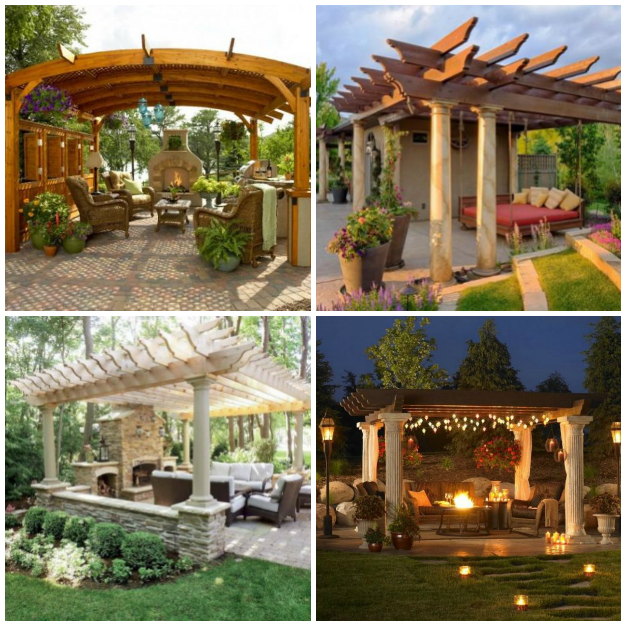 20 propuestas de p rgolas para disfrutar al aire libre for Para crear un area de jardin