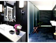 imagen Elegantes cuartos de baño decorados en negro