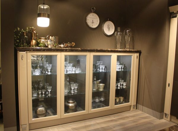 Ideas de armarios de cocina con puertas de cristal