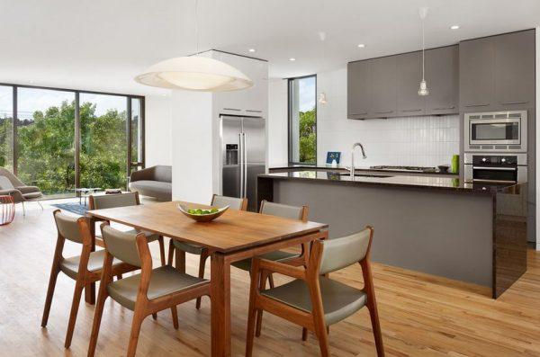 Armarios en color gris para tener una cocina elegante